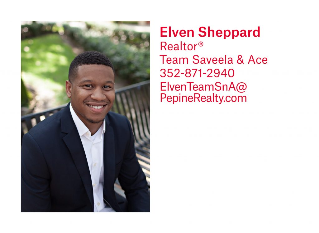 Elven Sheppard, Gainesville Realtor, with Pepine Realty