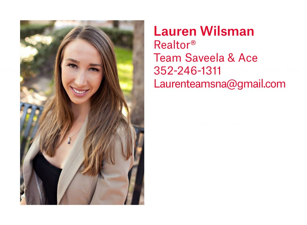 Lauren Wilsman, Gainesville Realtor, with Pepine Realty