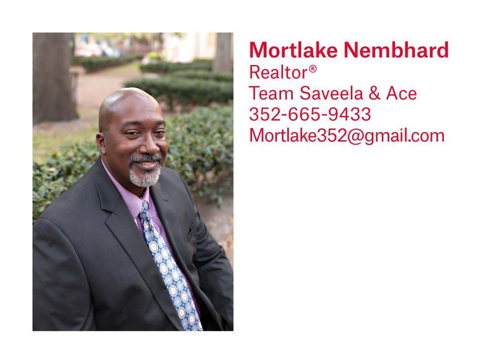 Mortlake Nembard is a Realtor on Saveela and Ace's team on Pepine Realty in Gainesville and Alachua County