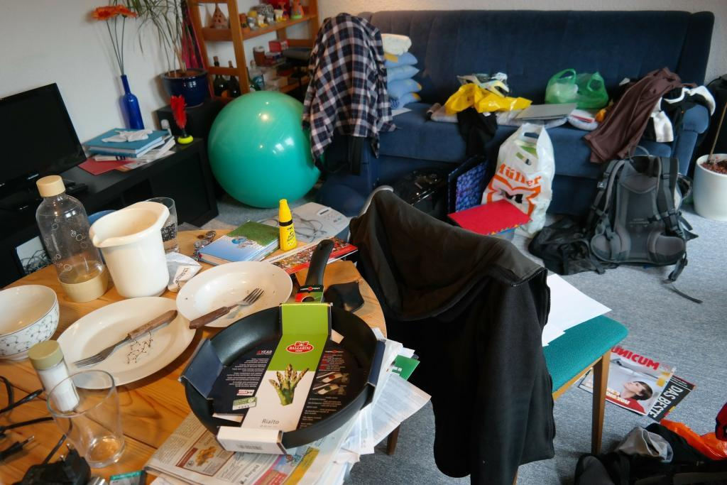 clutter that needs to be cleaned up