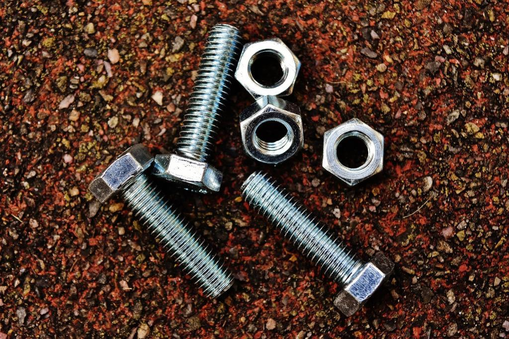 screws, nuts and bolts taken out of furniture before a move