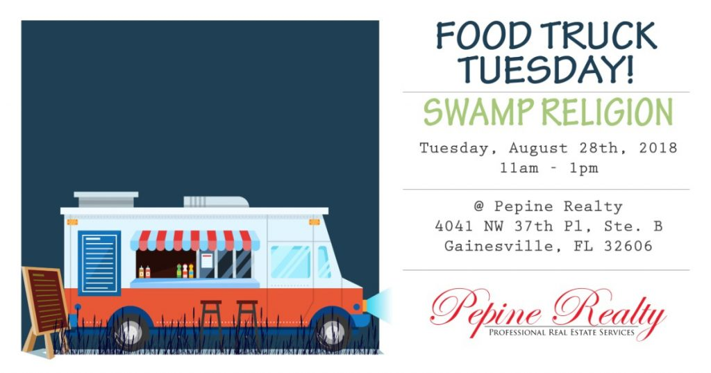 Join us August 28th for the Swamp Religion Food Truck