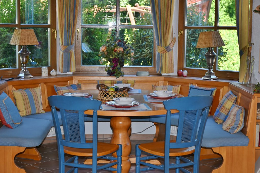 Set your dining room table with formal dishes, if possible