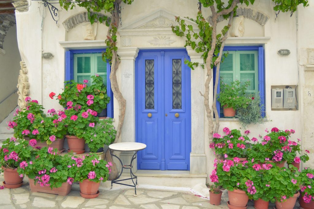 Paint your front door and install new hardware if anything looks worn-out. Consider removing dated wall paper